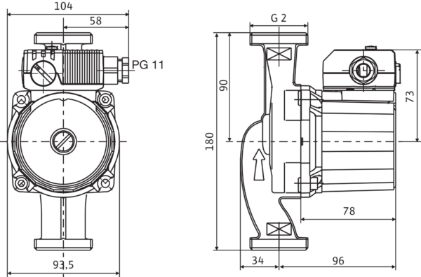 Wilo-Star-RS 30/2 с гайками