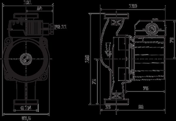 Wilo-Star-Z 20/5-3 (150мм)